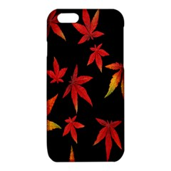 Colorful Autumn Leaves On Black Background iPhone 6/6S TPU Case