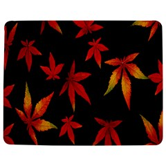 Colorful Autumn Leaves On Black Background Jigsaw Puzzle Photo Stand (rectangular)