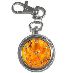 Bright Yellow Autumn Leaves Key Chain Watches