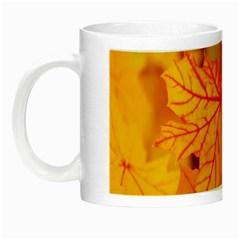 Bright Yellow Autumn Leaves Night Luminous Mugs