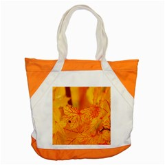 Bright Yellow Autumn Leaves Accent Tote Bag