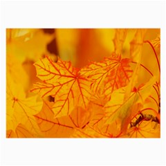Bright Yellow Autumn Leaves Large Glasses Cloth (2 Side)