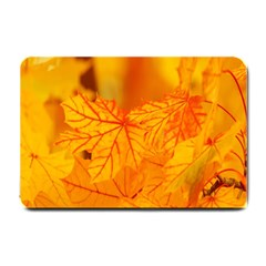 Bright Yellow Autumn Leaves Small Doormat