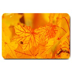 Bright Yellow Autumn Leaves Large Doormat