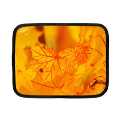 Bright Yellow Autumn Leaves Netbook Case (small)