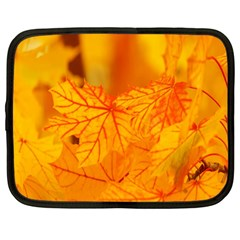 Bright Yellow Autumn Leaves Netbook Case (Large)
