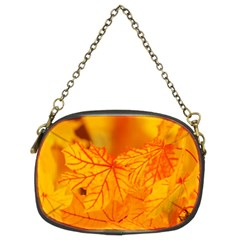 Bright Yellow Autumn Leaves Chain Purses (two Sides)