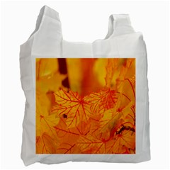 Bright Yellow Autumn Leaves Recycle Bag (two Side)