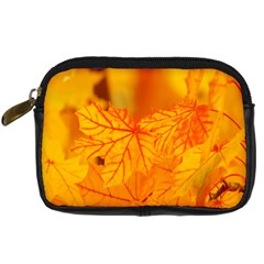 Bright Yellow Autumn Leaves Digital Camera Cases