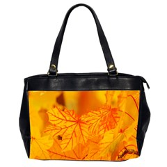 Bright Yellow Autumn Leaves Office Handbags (2 Sides)