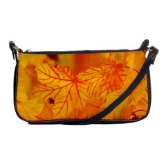 Bright Yellow Autumn Leaves Shoulder Clutch Bags