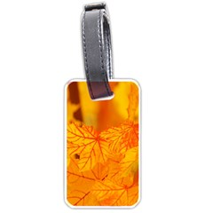 Bright Yellow Autumn Leaves Luggage Tags (one Side)