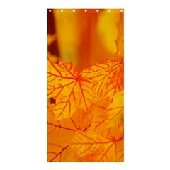 Bright Yellow Autumn Leaves Shower Curtain 36  X 72  (stall)