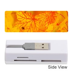 Bright Yellow Autumn Leaves Memory Card Reader (stick)