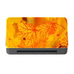 Bright Yellow Autumn Leaves Memory Card Reader With Cf