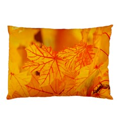 Bright Yellow Autumn Leaves Pillow Case (Two Sides)