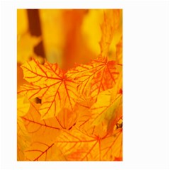 Bright Yellow Autumn Leaves Small Garden Flag (two Sides)