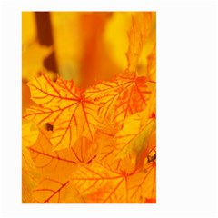 Bright Yellow Autumn Leaves Large Garden Flag (two Sides)