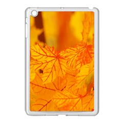 Bright Yellow Autumn Leaves Apple Ipad Mini Case (white)