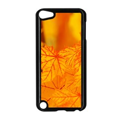 Bright Yellow Autumn Leaves Apple iPod Touch 5 Case (Black)