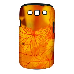 Bright Yellow Autumn Leaves Samsung Galaxy S Iii Classic Hardshell Case (pc+silicone)