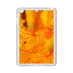 Bright Yellow Autumn Leaves Ipad Mini 2 Enamel Coated Cases