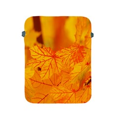 Bright Yellow Autumn Leaves Apple Ipad 2/3/4 Protective Soft Cases