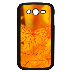 Bright Yellow Autumn Leaves Samsung Galaxy Grand Duos I9082 Case (black)