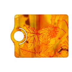 Bright Yellow Autumn Leaves Kindle Fire HD (2013) Flip 360 Case
