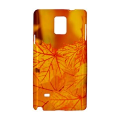 Bright Yellow Autumn Leaves Samsung Galaxy Note 4 Hardshell Case