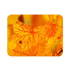 Bright Yellow Autumn Leaves Double Sided Flano Blanket (Mini)