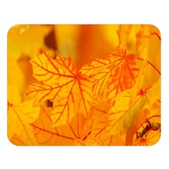 Bright Yellow Autumn Leaves Double Sided Flano Blanket (large)