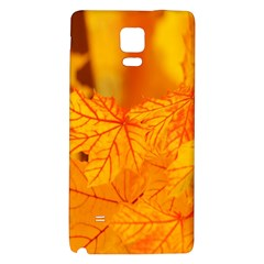 Bright Yellow Autumn Leaves Galaxy Note 4 Back Case