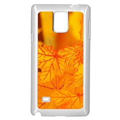 Bright Yellow Autumn Leaves Samsung Galaxy Note 4 Case (white)