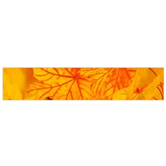 Bright Yellow Autumn Leaves Flano Scarf (small)