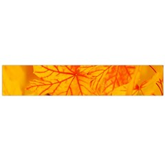 Bright Yellow Autumn Leaves Flano Scarf (Large)