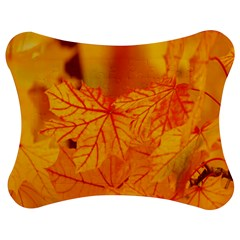 Bright Yellow Autumn Leaves Jigsaw Puzzle Photo Stand (bow)