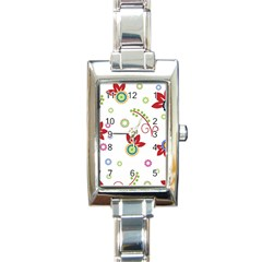 Colorful Floral Wallpaper Background Pattern Rectangle Italian Charm Watch