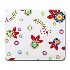 Colorful Floral Wallpaper Background Pattern Large Mousepads
