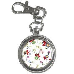 Colorful Floral Wallpaper Background Pattern Key Chain Watches