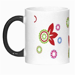 Colorful Floral Wallpaper Background Pattern Morph Mugs