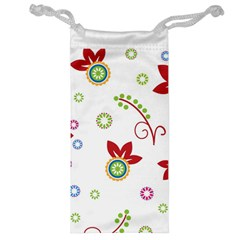 Colorful Floral Wallpaper Background Pattern Jewelry Bag