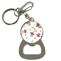 Colorful Floral Wallpaper Background Pattern Button Necklaces