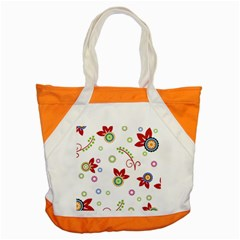 Colorful Floral Wallpaper Background Pattern Accent Tote Bag