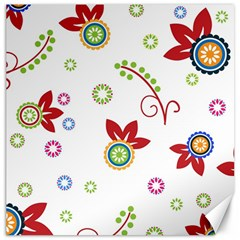 Colorful Floral Wallpaper Background Pattern Canvas 12  X 12