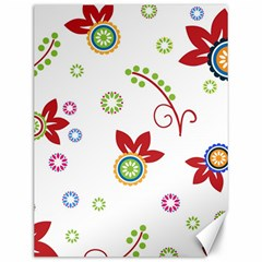 Colorful Floral Wallpaper Background Pattern Canvas 12  X 16