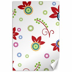 Colorful Floral Wallpaper Background Pattern Canvas 24  X 36