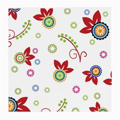 Colorful Floral Wallpaper Background Pattern Medium Glasses Cloth