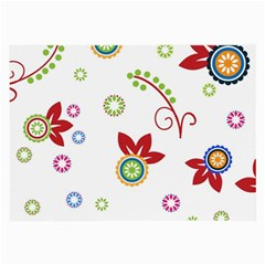 Colorful Floral Wallpaper Background Pattern Large Glasses Cloth