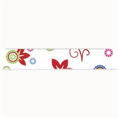 Colorful Floral Wallpaper Background Pattern Small Bar Mats